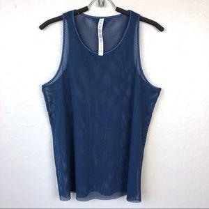 Alo Yoga Lucid Mesh Tank in Blue